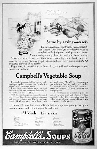 1918 Campbell's Soup Classic Ad #001984