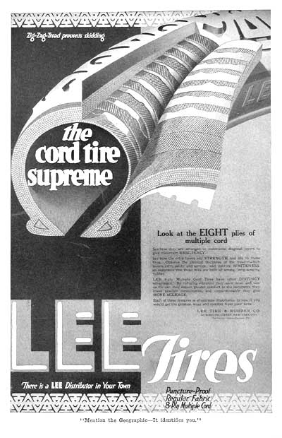 1918 Lee Cord Tires #003099