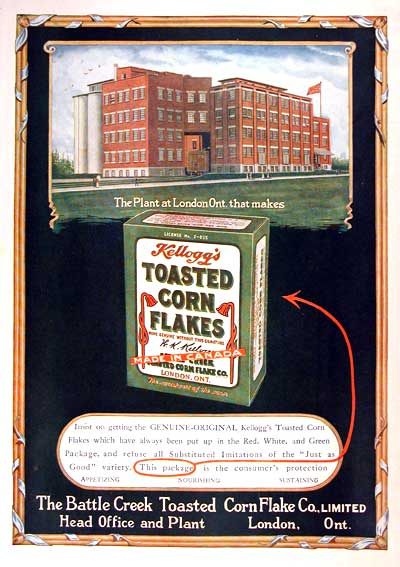 1919 Kellogg's Corn Flakes #001642