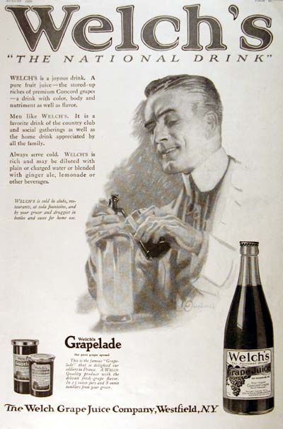 1920 Welch's Grape Juice Classic Ad #001952