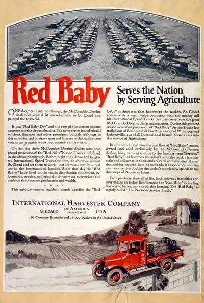 1922 IH Red Baby #003126