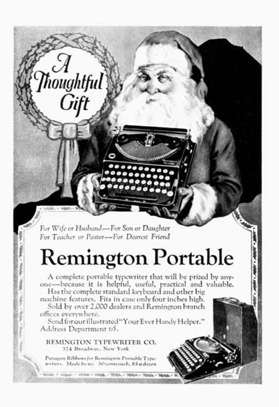 1922 Remington Typewriter Classic Vintage Ad #000107