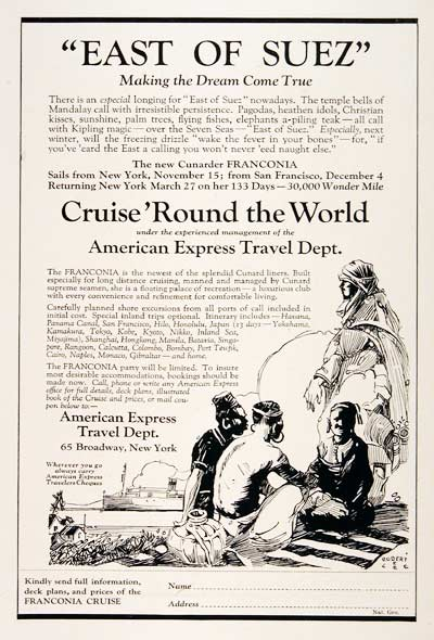 1923 Cunard World Cruise #003166