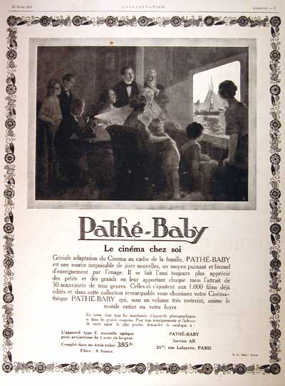 1924 Pathé Baby Classic Ad #002007