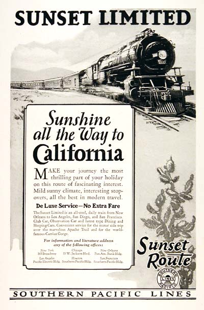 1926 Southern Pacific Railroad #003231