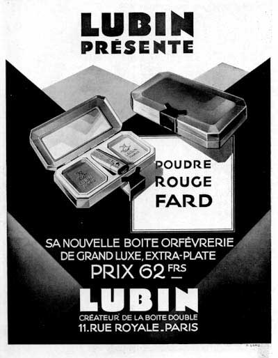 1928 Lubin Cosmetics Vintage French Ad #000235