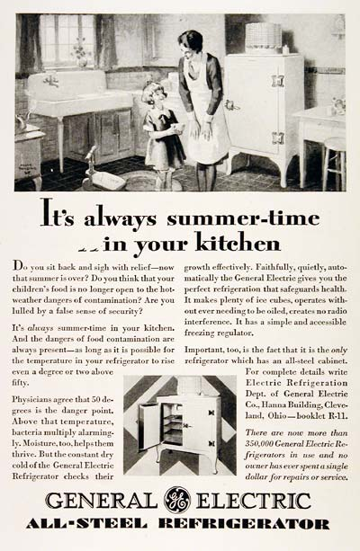 1929 general electric refrigerator