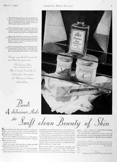 1929 Pond's Cold Cream