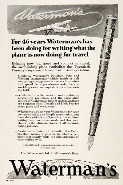 1929 Waterman's Pen #003283