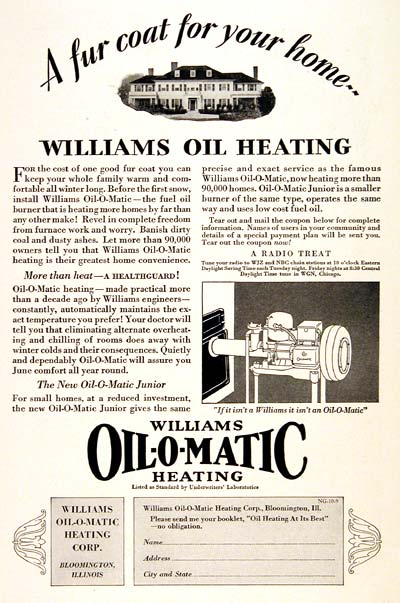 1929 Williams Oil-O-Matic #003269