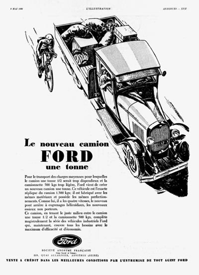 1930 Ford 1 Ton Vintage Ad #000271