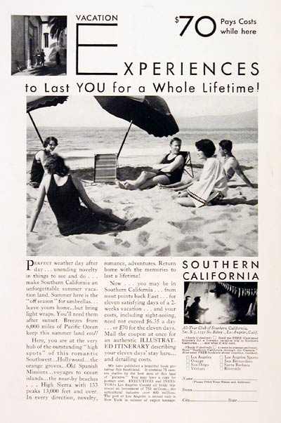 1930 California Vacation #007729