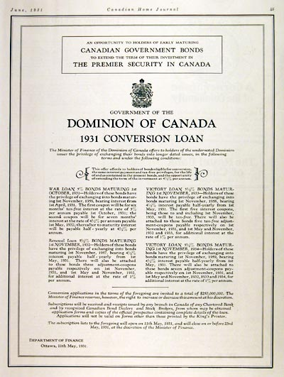 1931 Canada Savings Bonds #008143