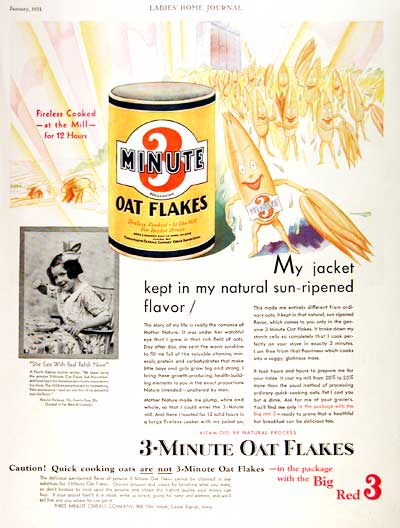 1931 3-Minute Oat Flakes #002344