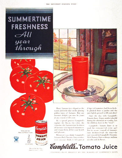 1933 Campbell's Tomato Juice #002269