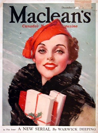 1933 Macleans Cover - Christmas Shopping #007979
