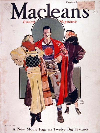 1933 Macleans Cover #007908
