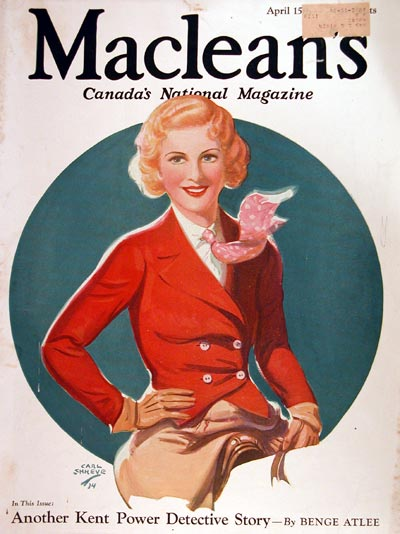 1934 Macleans Cover - Equestrian #007856