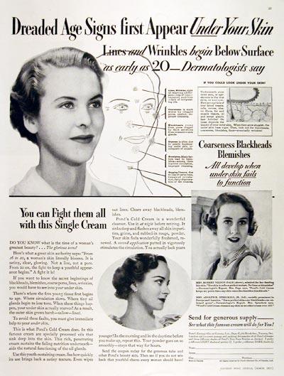1935 Pond's Cold Cream #007848