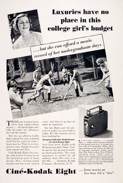 1936 Kodak Movie Camera #007838