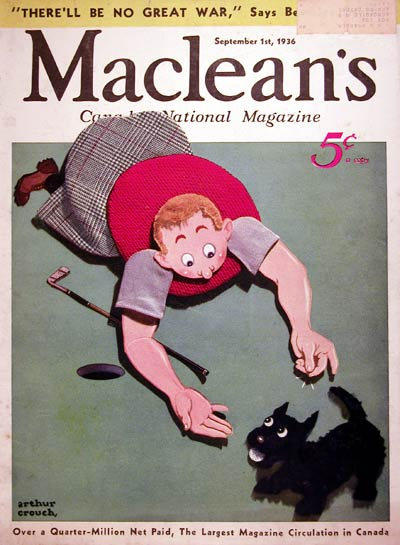 1936 Macleans Cover - Golf #008107