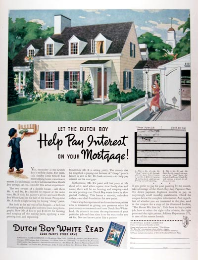 1937 Dutch Boy House Paint #024217