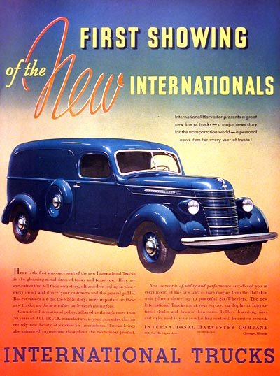 1937 International Panel Van #003314