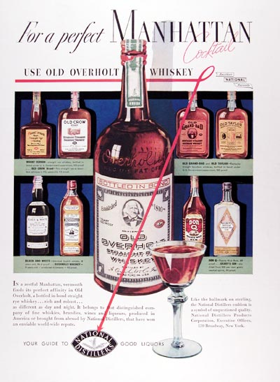 1937 Old Overholt Whiskey #0024256