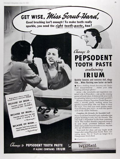 1937 Pepsodent Toothpaste #017280