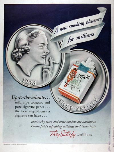 1938 Chesterfield Cigarettes #024934