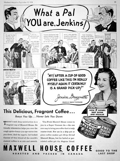 1938 Maxwell House Coffee #007895