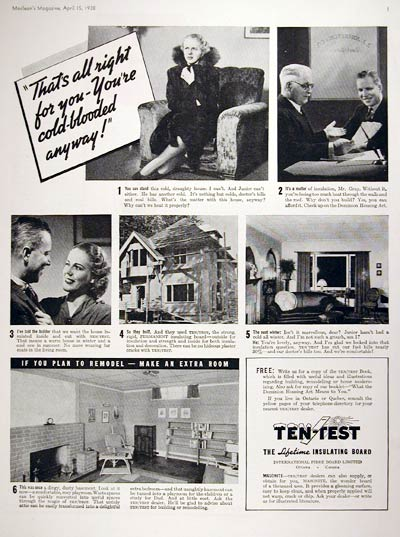 1938 Ten Test Insulating Boards #008052