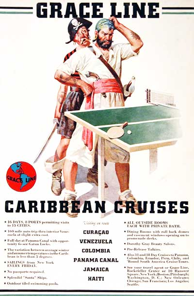 1939 Grace Cruise Lines #003544
