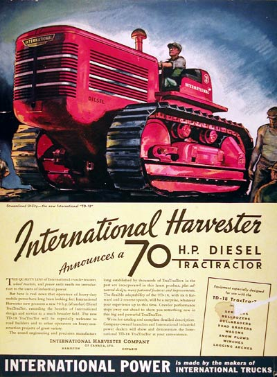 1939 International Harvester Diesel Tractor #008042
