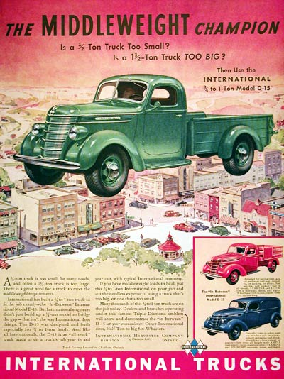 1939 International D-15 Pickup #008025