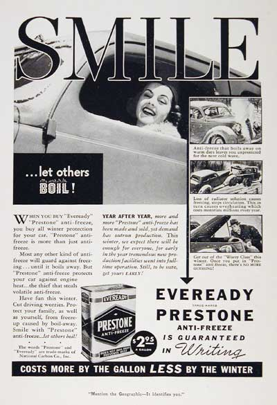 1939 Prestone Anti-Freeze #003557