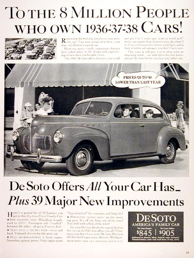 1940 DeSoto Deluxe Coupe #006626