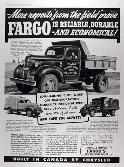 1940 Fargo Commercial Trucks #011016