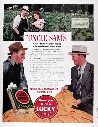 1940 Lucky Strike Cigarettes #024364