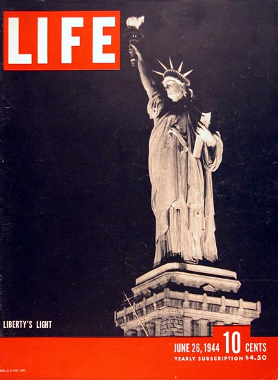 1944 Life Cover - Statue of Liberty #007397
