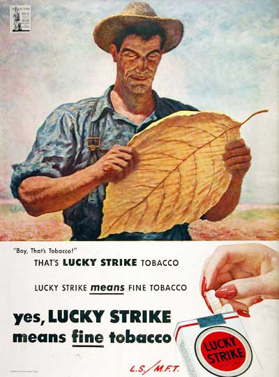 1944 Lucky Strike Cigarettes #007018