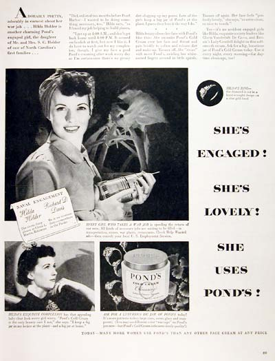 1944 Pond's Cold Cream #007000