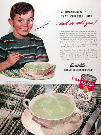 1945 Campbell's Cream of Spinach Soup #009711