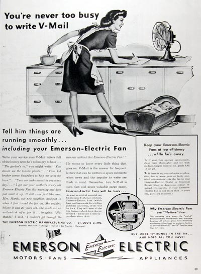 1945 Emerson Electric Fans #009714