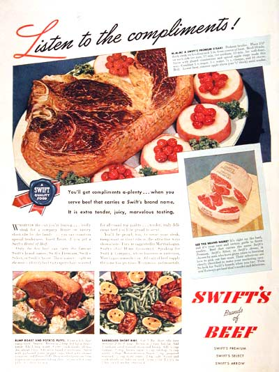 1946 Swift's Beef Classic Ad #002012