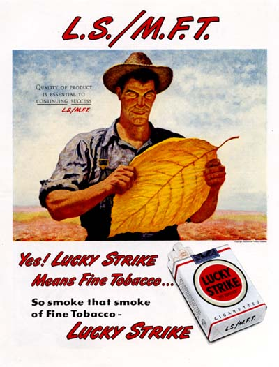 1947 Lucky Strike Cigarettes Classic Ad #000429