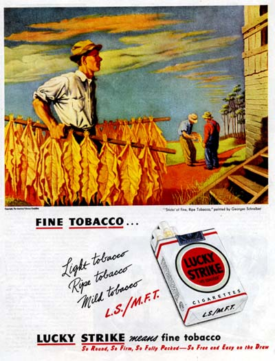 1947 Lucky Strike Classic Ad #000428
