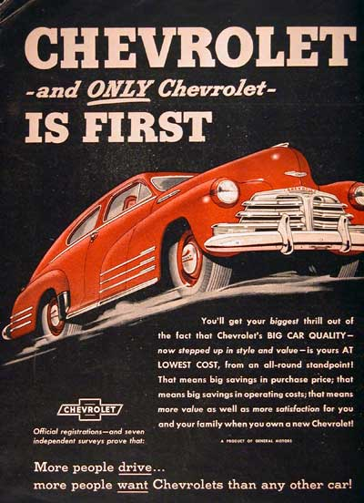 1948 Chevrolet Coupe Classic Ad #001899