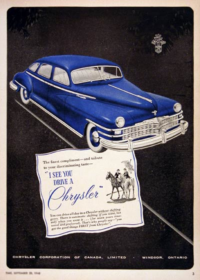 1948 Chrysler Sedan #004356