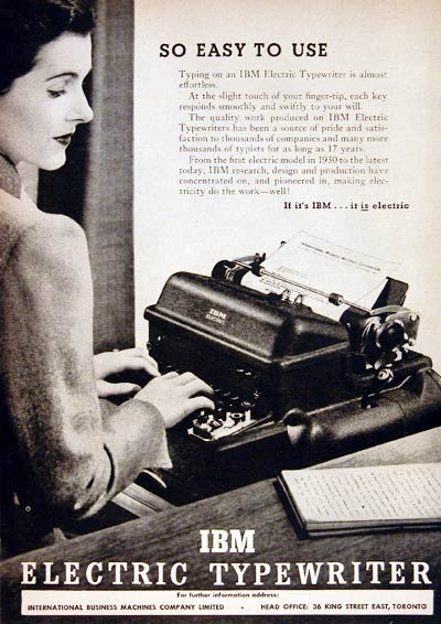1948 IBM Electric Typewriter #004371